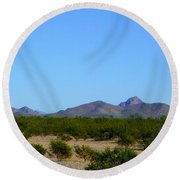 Moon Over My Mountains 2 Round Beach Towel