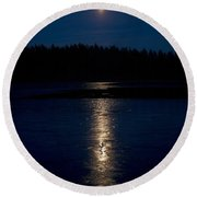 Moon Over Saari-soljanen 1 Round Beach Towel