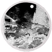 Moon Over Stanley Park Round Beach Towel by Will Borden