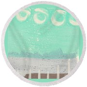 Moon Over The Sea Round Beach Towel by Linda Woods