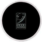 Moon Records Round Beach Towel
