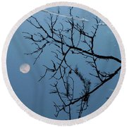 Moon Reflection Round Beach Towel