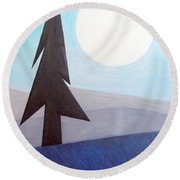 Moon Rings Round Beach Towel