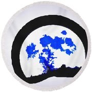 Moon Set Round Beach Towel