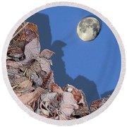 Moon Shadow Round Beach Towel