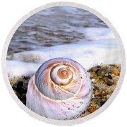 Moon Snail Round Beach Towel