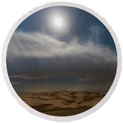 Moon Sparkle Round Beach Towel