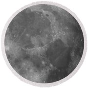 Moon Surface Close-up Round Beach Towel