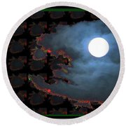 Moon Through Clouds  Photography With Graphic Flavour Created By Navinjoshi At Fineartamerica.co Round Beach Towel