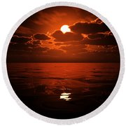 Moon Water  Round Beach Towel