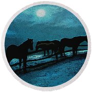 Moonbeam Round Beach Towel