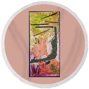 Moonbeams Round Beach Towel