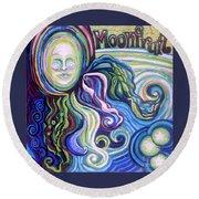 Moonfruit Round Beach Towel