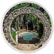 Moongate - Bermuda Round Beach Towel