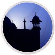 Moonlight And Minarets Round Beach Towel