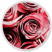 Moonlight And Roses Round Beach Towel