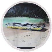 Moonlight At Gold Rock Creek Round Beach Towel