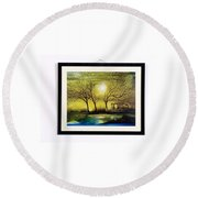 Moonlight At Masinagudi Round Beach Towel