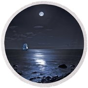 Moonlight Bay Round Beach Towel