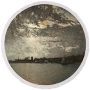 Moonlight Mood, The Stockholm Inlet  Round Beach Towel