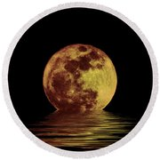 Moonlight On The Bay Round Beach Towel
