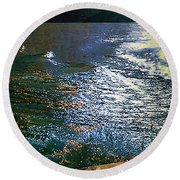 Moonlight On The Mississippi Round Beach Towel