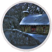 Moonlight On The Stonehouse Round Beach Towel