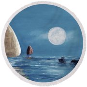 Moonlight Sailnata 4 Round Beach Towel