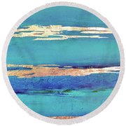 Moonlight Sea Round Beach Towel