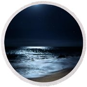 Moonlit Coconut Round Beach Towel