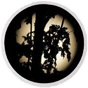 Moonlit Leaves No 1 Round Beach Towel