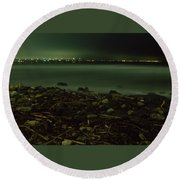 Moonlit Night - The Point Round Beach Towel