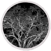 Moonlit Night Round Beach Towel