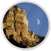 Moonrise Over Grand Canyon Round Beach Towel