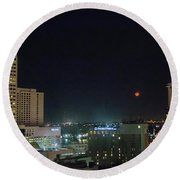 Moonrise Over New Orleans Round Beach Towel