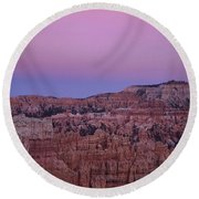 Moonrise Over The Hoodoos Bryce Canyon National Park Utah Round Beach Towel
