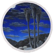 Moonrise Round Beach Towel by Snake Jagger