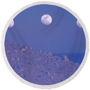 Moons And Dunes Round Beach Towel