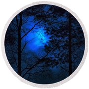 Moonshine 03 Bad Moon Rising Round Beach Towel