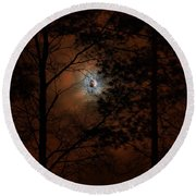 Moonshine 04 Bad Moon Rising Round Beach Towel