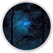 Moonshine 10 Blue Sky Round Beach Towel