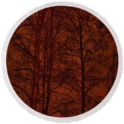 Moonshine 11 Red Sky Round Beach Towel