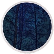 Moonshine 12 Blue Sky Round Beach Towel