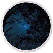 Moonshine 16 The Trees Round Beach Towel