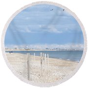 Moonstone Beach Round Beach Towel