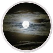 Moonstruck Round Beach Towel