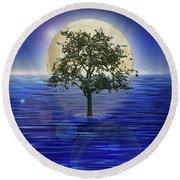 Moontree Round Beach Towel