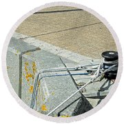 Mooring Ropes - Ryde Harbour Round Beach Towel
