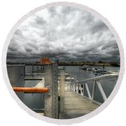 Moorings Round Beach Towel