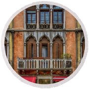 Moorish Style Windows Venice_dsc1450_02282017 Round Beach Towel
